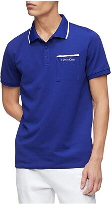 Calvin Klein Move 365 Short Sleeve Pocket Polo Quick Dry Moisture Wicking Features (Kinetic) Men's Clothing