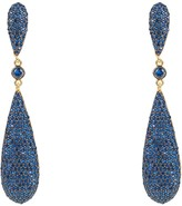 Latelita Coco Long Drop Earrings Blue Cz