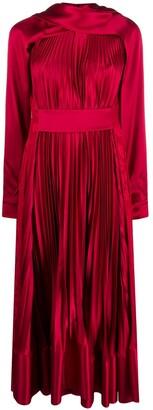 Ports 1961 Plisse Midi Party Dress