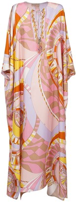 Emilio Pucci Printed Georgette Silk Caftan Dress