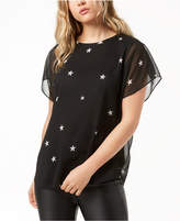 Rachel Roy Star-Print Top, Created for Macy's
