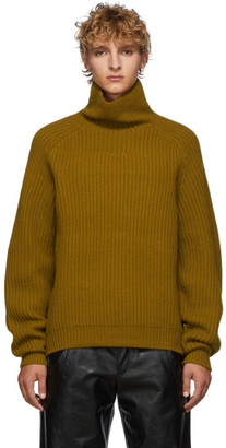 Acne Studios Yellow Kally Sporty Wool Rib Knit Turtleneck