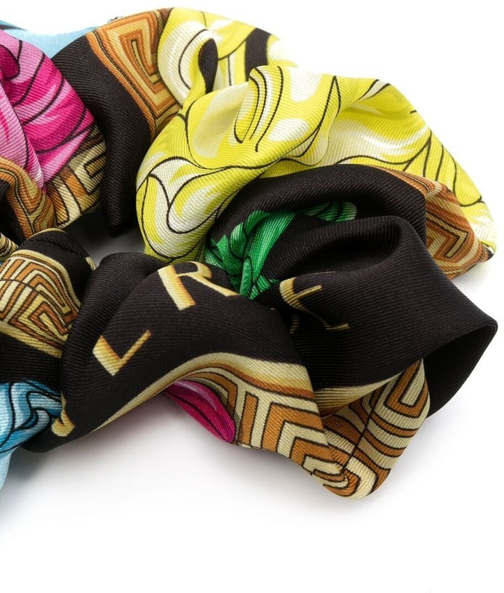 Thumbnail for your product : Versace Mixed-Print Hair Scrunchie