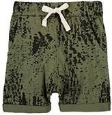 Little Indians Splatter-Print Stretch-Cotton Shorts