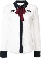 Markus Lupfer bow tie blouse with planet appliqué