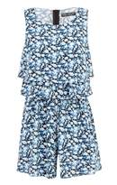 Select Fashion Fashion Womens Multi Ditsy Double Layer Playsuit - size 6