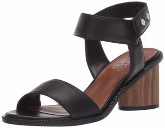 Franco Sarto Womens Bask Black Sandals 7.5 M