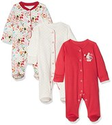 Mothercare Baby Girls' Autumn Leaves-3 Pack Bodysuit,Newborn (Manufacturer Size: New 7.5Lbs)