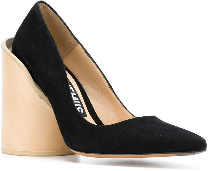 Jacquemus wood heel pumps