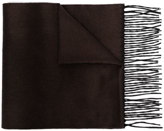 Corneliani Fine Knit Fringed Edge Scarf