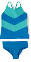 Classic Little Girls Tankini Swimsuit Set-Capri Aqua