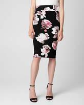 Le Château Floral Print Jersey High Waist Midi Skirt