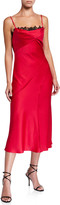 Derek Lam Jason Wu Collection Crepe-Back Satin Slip Dress