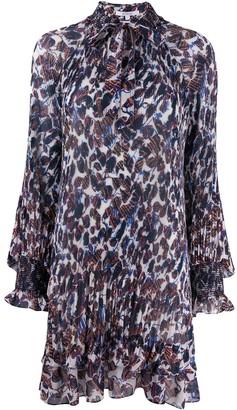 Derek Lam 10 Crosby Pleated Floral Print Dress