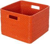 Linea Medium Rattan Storage Basket in Orange