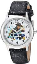Disney Girl's 'Descendants 2' Quartz Stainless Steel Casual Watch, Color:Black (Model: WDS000250)