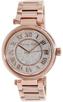 Michael Kors MK5868 Skylar Rose Gold Stainless Crystal Pave Dial 40mm Womens Watch