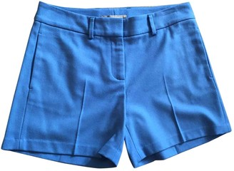Ermanno Scervino Blue Wool Shorts for Women