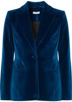 Altuzarra Acacia Stretch-velvet Blazer - Cobalt blue