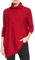 Eileen Fisher Asymmetrical Merino Jersey Turtleneck (Regular & Petite)