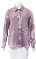 Rebecca Minkoff Silk Button-Up Top w/ Tags