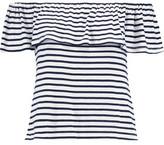 Splendid Off-The-Shoulder Striped Jersey Top