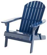 Christopher Knight Home Hanlee Folding Wood Adirondack Chair - Navy Blue