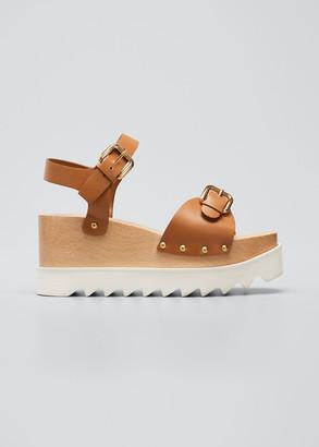 Stella McCartney Elyse Buckle Wedge Platform Sandals