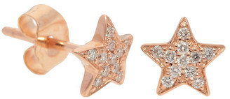 Nephora 14K Rose Gold 0.11 Ct. Tw. Diamond Star Studs