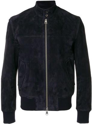 Ami Paris suede leather zipped jacket Harrington collar