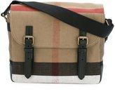 Burberry house check shoulder bag - men - Cotton/Jute/Calf Leather - One Size