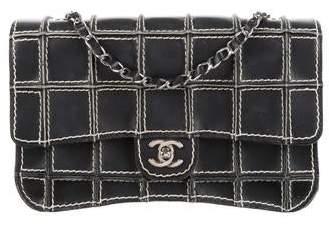 Chanel Surpique Square Quilt Flap Bag