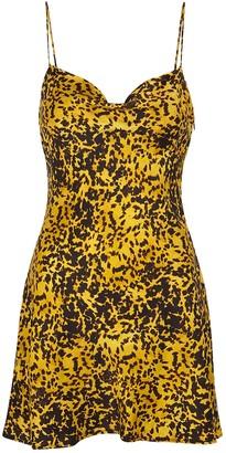 Bec & Bridge Turtle Rock printed silk mini dress