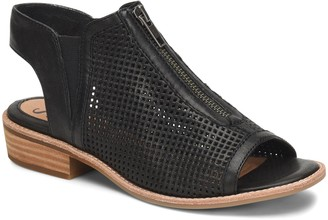 Sofft Leather Perforated Zipper Sandals - NaldaZip