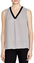 T Tahari Julie V-Neck Sleeveless Top