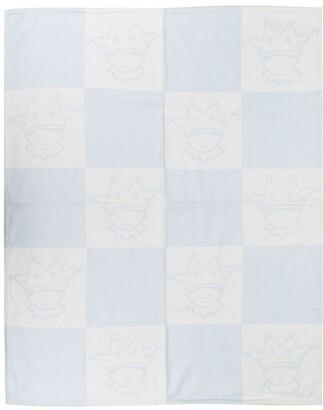 Marie Chantal Checked Merino Wool Blanket