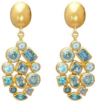 Gurhan 24kt gold Cluster earrings