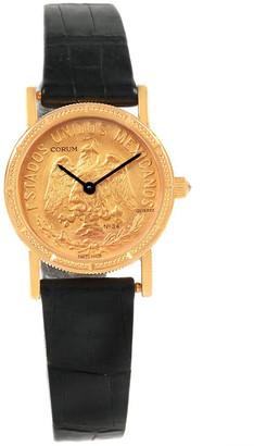 Corum Gold 18K Yellow Gold 10 Dollars Pesos Coin Year 1959 Women's Wristwatch 27 MM