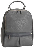 Aeropostale Womens Classic Faux Leather Zippered Backpack