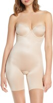 Spanx R) Suit Your Fancy Strapless Cupped Mid-Thigh Shaper Bodysuit