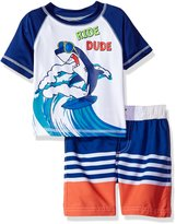 iXtreme Little Boys' Ride Dude Shark Rashguard Set
