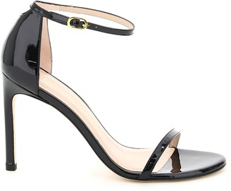 Stuart Weitzman nudistsong patent leather sandals