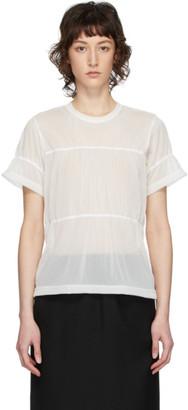 Comme des Garçons Comme des Garçons Off-White Ruched T-Shirt