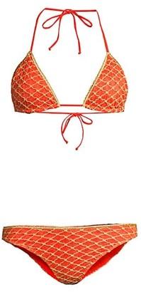 Missoni Mare Metallic Diamond-Embroiderd 2-Piece Bikini Set