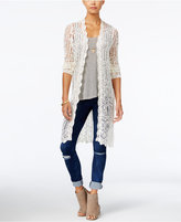 American Rag Crocheted Duster Cardigan, Only at Macy's