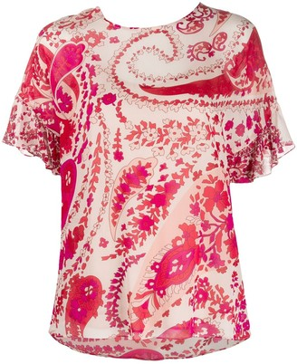 Twin-Set paisley print T-shirt