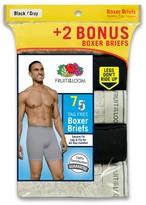 Fruit of the Loom Men's Boxer Brief Assorted 5+2 pk Black - Underwear