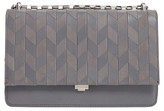 Michael Kors Medium Yasmeen Chevron Leather Clutch - Grey