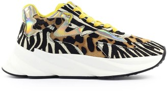 Elena Iachi Colette Yellow Zebra Sneaker