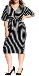 City Chic Stripe Midi Dress